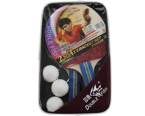 Набор для настольного тенниса Double Fish арт.236A (две ракетки и 3 мяча)