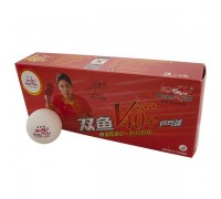 Мяч для настольного тенниса Double Fish 3*** арт.V111F1 (10 шт) белый