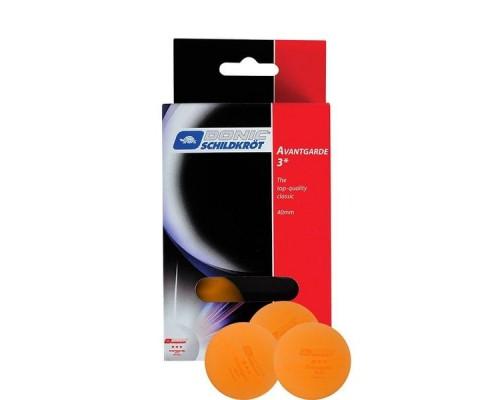 Мячики для н/тенниса Donic AVANTGARDE 3 6 шт. оранжевый