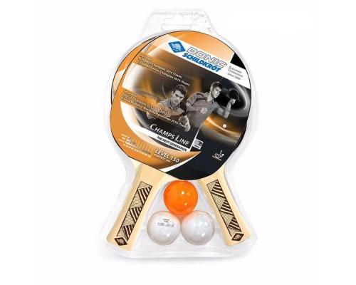 Набор для н/т DONIC Champs 150 (2 ракетки, 3 мячика)