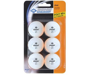 Мячики для н/тенниса Donic JADE 40+ 6 шт белый