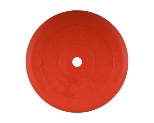 Диск обрезиненный Torres арт.PL504110 d-26 10 кг