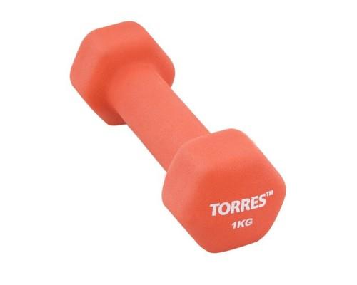 Гантель неопреновая Torres 1 кг арт.PL55011