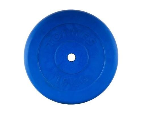 Диск обрезиненный Torres арт.PL504215 d-26 15 кг