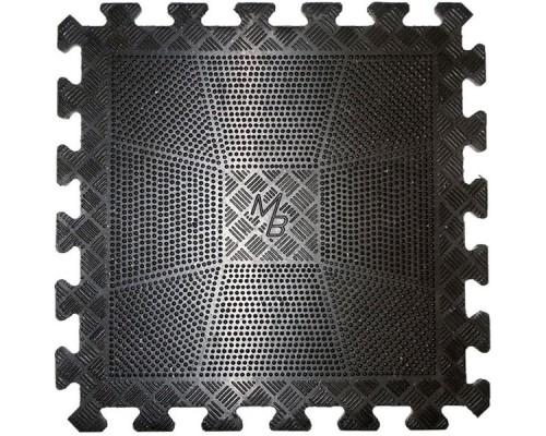 Коврик резиновый черный MB Barbell 400х400, толщина 12мм (MB-MatBL-12)